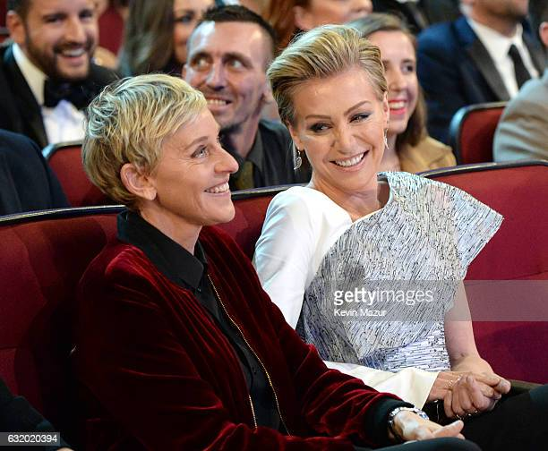 Comedia Ellen DeGeneres and actress Portia de Rossi attend the People's Choice Awards 2017 at Microsoft Theater on January 18 2017 in Los Angeles...