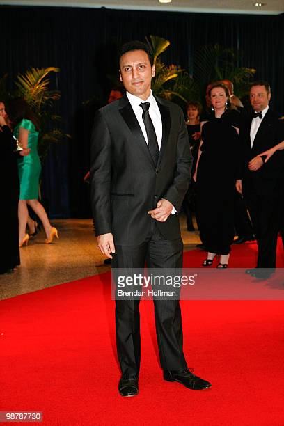 Comedian Aasif Mandvi arrives at the White House Correspondents' Association dinner on May 1 2010 in Washington DC The annual dinner featured...
