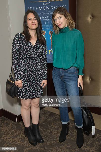 Comedian Abbi Jacobson and Kerri Bronson attend the Other People New York Screening at Dolby 88 Theater on September 6 2016 in New York City