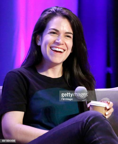 Comedian Abbi Jacobson performs onstage at the Larkin Comedy Club during Colossal Clusterfest at Civic Center Plaza and The Bill Graham Civic...