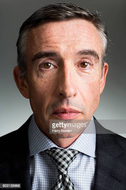 Comedian actor and campaigner Steve Coogan is photographed for the Guardian on September 14 2015 in London England