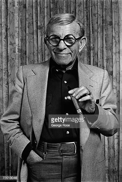 Comedian actor and entertainer George Burns poses during a 1980 Beverly Hills California photo portrait session Burns was one of the pioneers of...