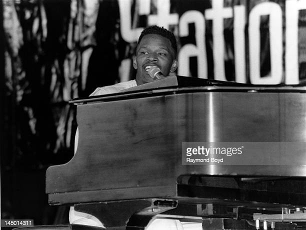 Comedian actor and singer Jamie Foxx performs at the Marcus Amphitheatre in Milwaukee Wisconsin in JUNE 1994