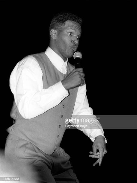 Comedian actor and singer Jamie Foxx performs at the Regal Theater in Chicago Illinois in APRIL 1994