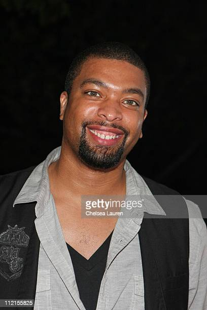 Comedian / actor DeRay Davis attends the Steve Rifkind and SRC Late Night after party in honor of Stephen Hill at Union Station on June 28 2009 in...