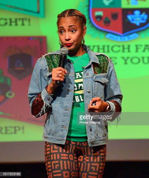 Comedian actress disc jockey recording artist and radio personality Amanda Seales speaks at her event Amanda Seales Presents Smart Funny And Black >>...