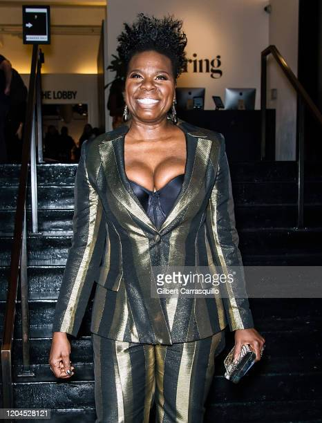 Comedian, actress Leslie Jones is seen leaving the Christian Siriano Fall Winter 2020 NYFW at Spring Studios on February 06, 2020 in New York City.
