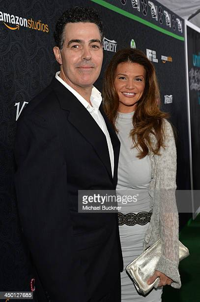 Comedian Adam Carolla and Lynette Paradise attend Variety's 4th Annual Power of Comedy presented by Xbox One benefiting the Noreen Fraser Foundation...