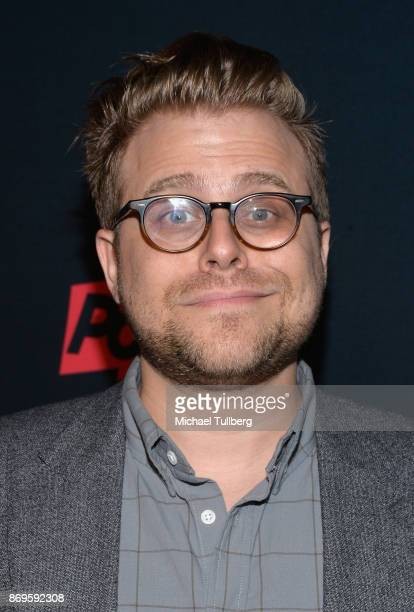 Comedian Adam Conover attends the premiere of Pop TV's 'Hot Date' at Estrella on November 2 2017 in West Hollywood California