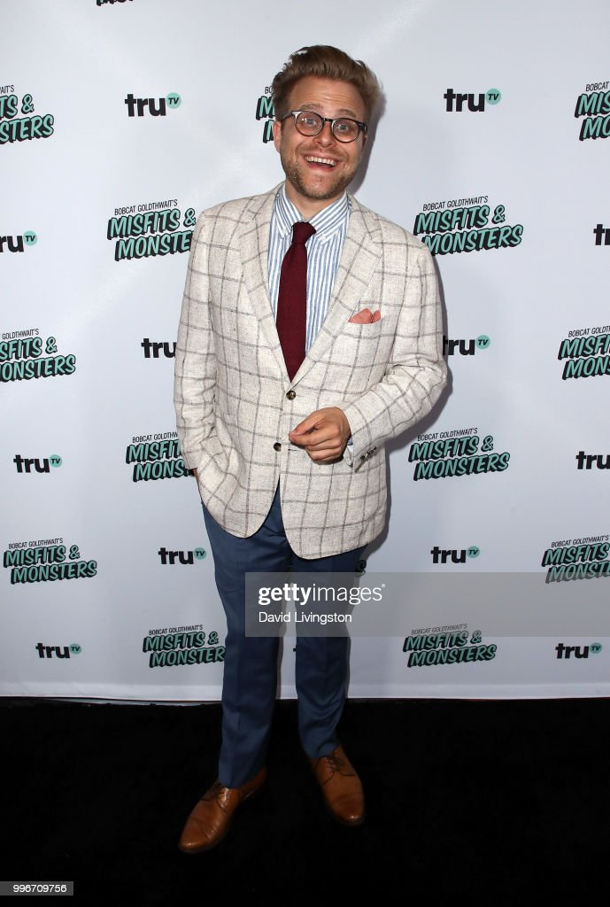 Comedian Adam Conover attends the premiere of truTV's 'Bobcat Goldthwait's Misfits & Monsters' at the Hollywood Roosevelt Hotel on July 11, 2018 in Hollywood, California.