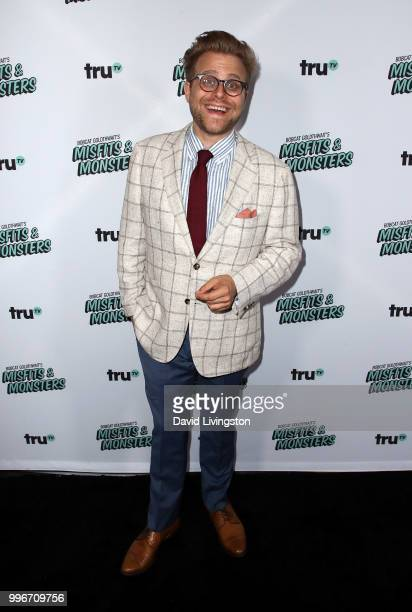 Comedian Adam Conover attends the premiere of truTV's 'Bobcat Goldthwait's Misfits Monsters' at the Hollywood Roosevelt Hotel on July 11 2018 in...
