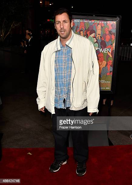 Comedian Adam Sandler attends Paramount Pictures' 'Men Women Children' premiere at Directors Guild Of America on September 30 2014 in Los Angeles...