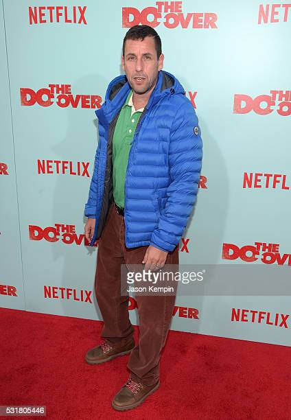 Comedian Adam Sandler attends the premiere of Netflix's 'The Do Over' at Regal LA Live Stadium 14 on May 16 2016 in Los Angeles California