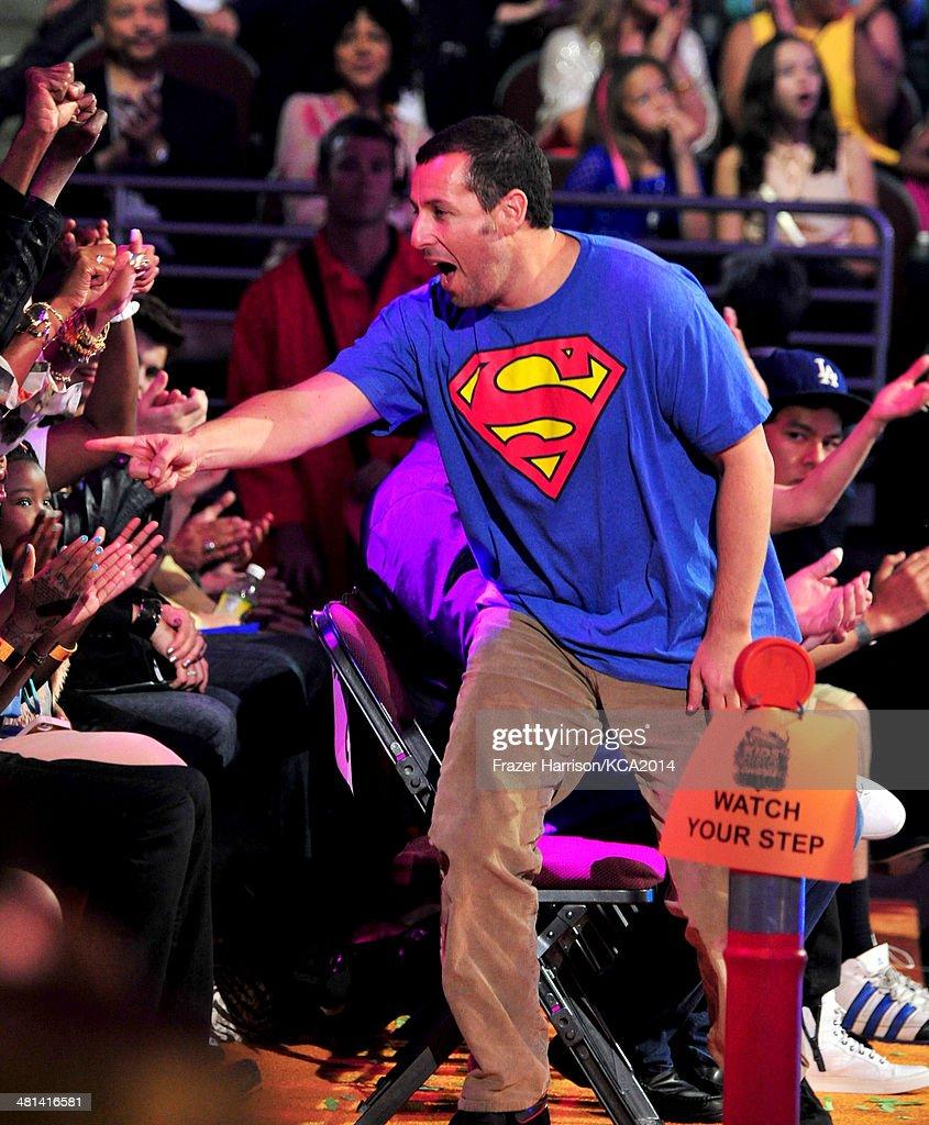 Comedian Adam Sandler onstage during Nickelodeon's 27th