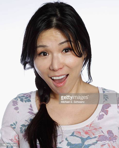 Comedian Aiko Tanaka poses during her attendance at The Ice House Comedy Club on January 31 2013 in Pasadena California