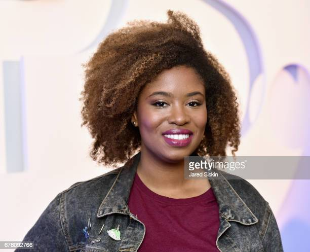 Comedian Akilah Hughes attends POPSUGAR 2017 Digital NewFront at Industria Studios on May 3 2017 in New York City