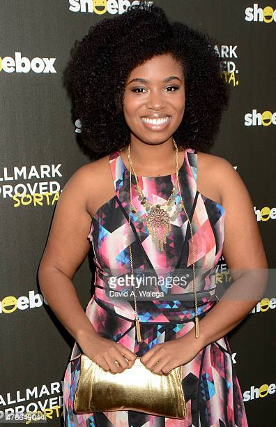 Comedian Akilah Hughes attends the Hallmark Shoebox 29th Birthday Celebration at The Improv Comedy Club June 10 2015 in Hollywood California