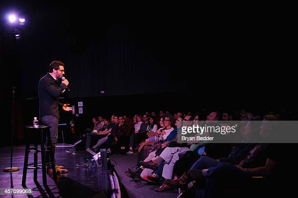 Comedian Al Madrigal performs on stage at The New Yorker Comedy Playlist with Patton Oswalt Todd Barry Marc Maron and Andy Borowitz at the MasterCard...