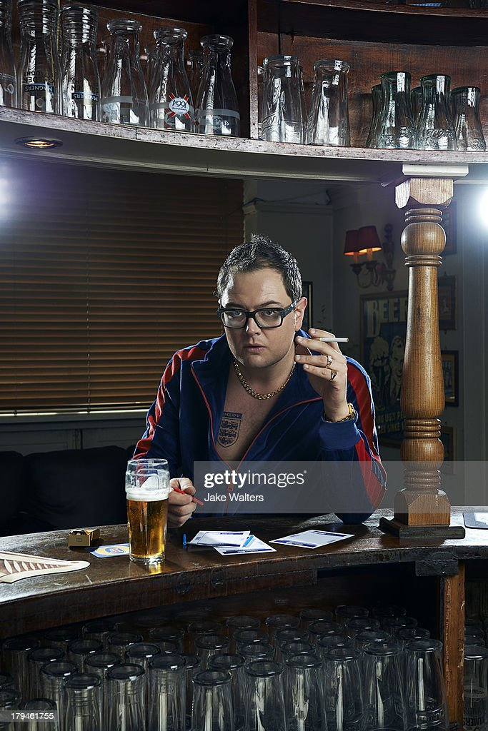 Comedian Alan Carr is photographed for ES magazine on May 9, 2013 in London, England.