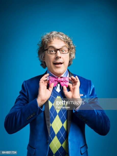 Comedian Alan Davies is photographed for Event magazine on October 14 2016 in London England