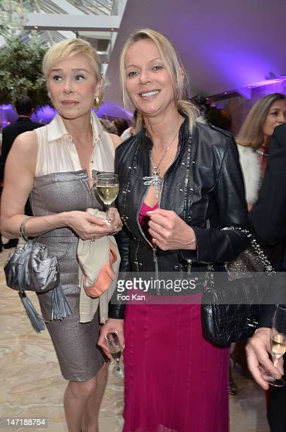 Comedian Alexandra Lorska and Helene de Yougoslavie attend the Chateau de Saint Cloud Gala Auction Dinner at the Salons Hoche on June 26 2012 in...