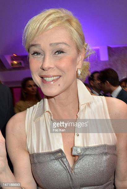 Comedian Alexandra Lorska attends the Chateau de Saint Cloud Gala Auction Dinner at the Salons Hoche on June 26 2012 in Paris France