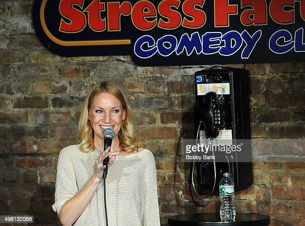 Comedian Alli Breen performs at The Stress Factory Comedy Club on November 20 2015 in New Brunswick New Jersey