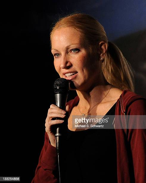 Comedian Alli Breen performs during her appearance at The Ice House Comedy Club on November 17 2011 in Pasadena California
