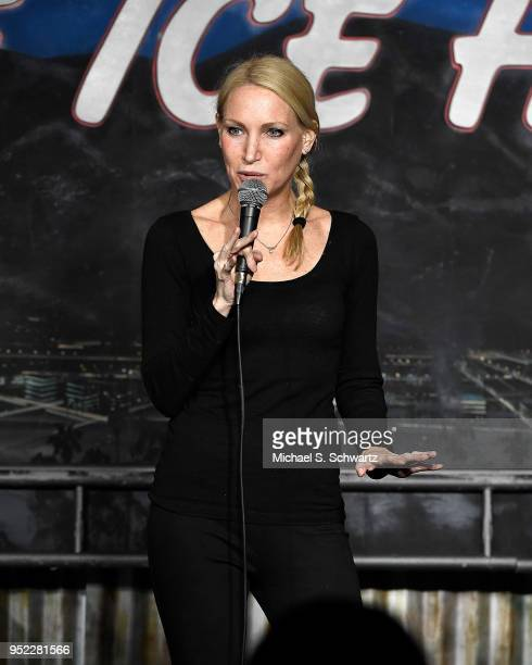 Comedian Alli Breen performs during her appearance at The Ice House Comedy Club on April 27 2018 in Pasadena California