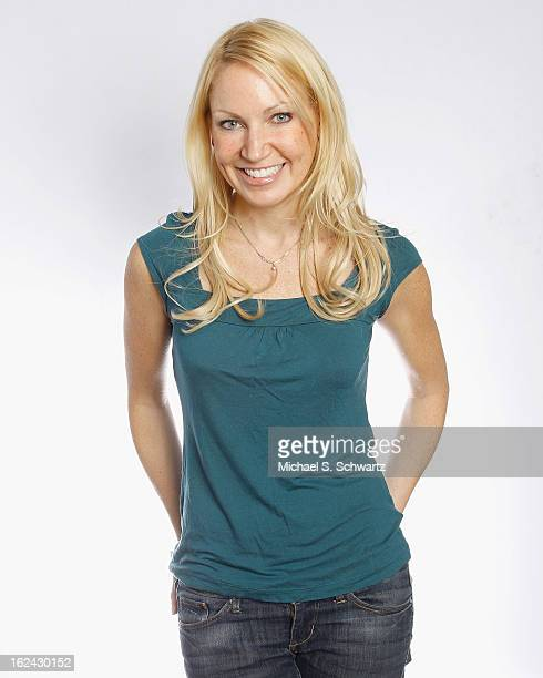 Comedian Alli Breen poses after her performance at The Ice House Comedy Club on February 22 2013 in Pasadena California