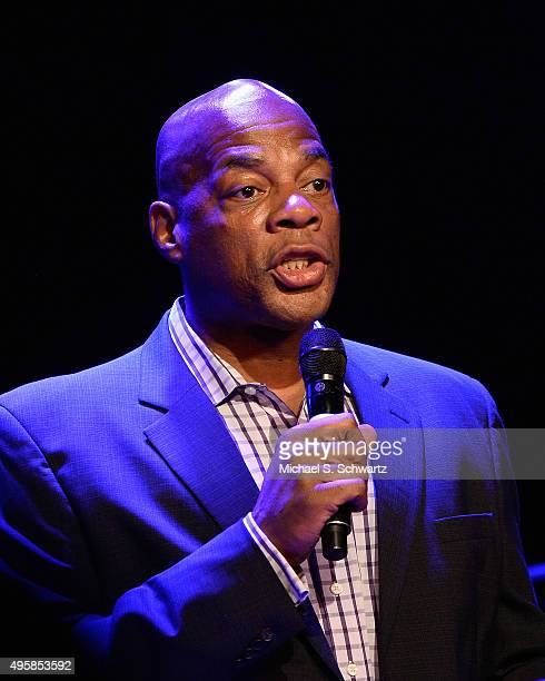 Comedian Alonzo Bodden performs during his appearance at the weSpark Cancer Support Center Benefit Concert 'An Evening with Michael McDonald and...