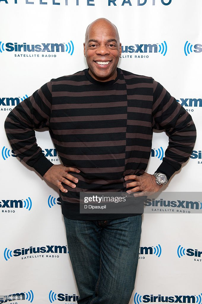 Comedian Alonzo Bodden visits the SiriusXM Studios on January 4, 2013 in New York City.