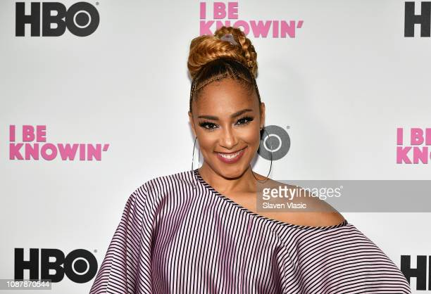 Comedian Amanda Seales attends HBO's I Be Knowin' NYC Screening at The Roxy Hotel Cinema on January 23 2019 in New York City