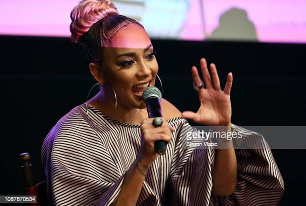 Comedian Amanda Seales attends HBO's I Be Knowin' NYC Screening with Amanda Seales at The Roxy Hotel Cinema on January 23 2019 in New York City