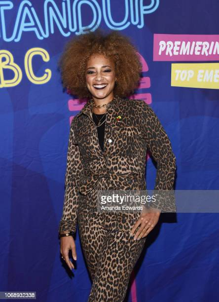 Comedian Amanda Seales attends the 15th Annual StandUp NBC Finale at the Hollywood Improv on December 5 2018 in Hollywood California