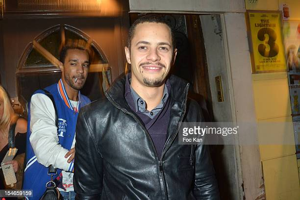 Comedian Ambroise Michel attends the 'Les 10 Ans de Marc Mitonne' Party Hosted by '2 Mains Rouges' at the Marc Mitonne Restaurant on October 23 2012...