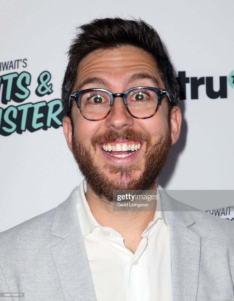 Comedian Amir Blumenfeld attends the premiere of truTV's 'Bobcat Goldthwait's Misfits & Monsters' at the Hollywood Roosevelt Hotel on July 11, 2018 in Hollywood, California.