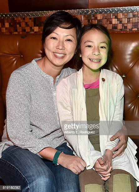 Comedian Amy Anderson and actress Aubrey AndersonEmmons attend The World Premiere of Disney's 'THE JUNGLE BOOK' at the El Capitan Theatre on April 4...