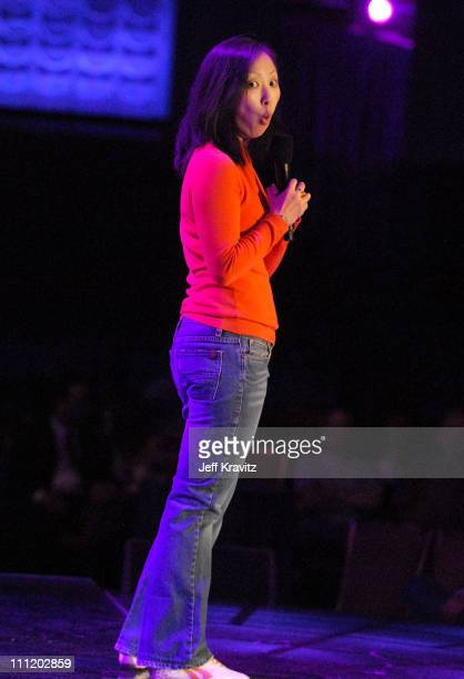 Comedian Amy Anderson on stage during Hot Tamales Live at the HBO AEG Live's 'The Comedy Festival' 2007 at Caesars Palace on November 17 2007 in Las...