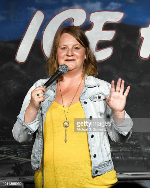 Comedian Amy Miller performs during her appearance at The Ice House Comedy Club on August 9 2018 in Pasadena California