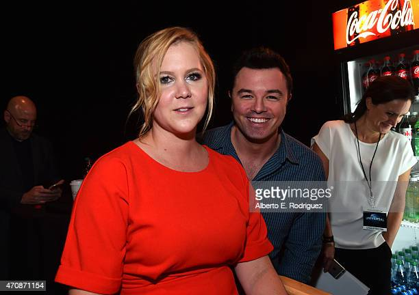 Comedian Amy Schumer and actor Seth MacFarlane attend Universal Pictures Invites You to an Exclusive Product Presentation Highlighting its Summer of...