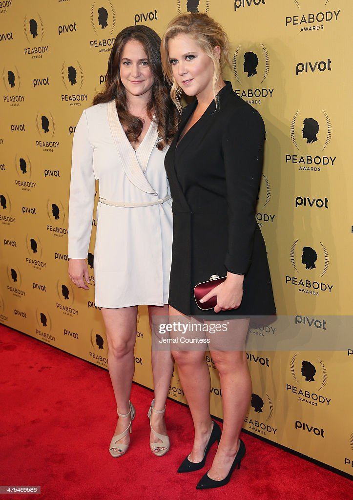 Comedian Amy Schumer (R) and Kim Caramele attend The 74th Annual Peabody Awards Ceremony at Cipriani Wall Street on May 31, 2015 in New York City.