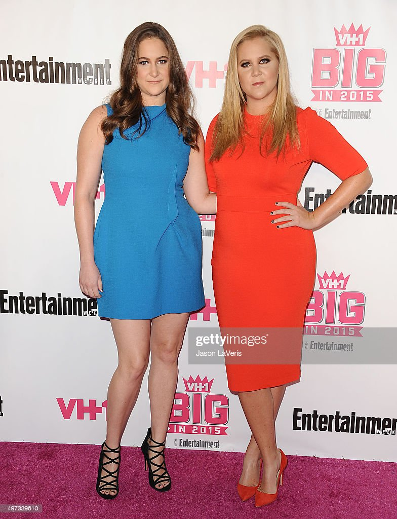 Comedian Amy Schumer (R) and sister Kimberly Schumer attend the VH1 Big In 2015 with Entertainment Weekly Awards at Pacific Design Center on November 15, 2015 in West Hollywood, California.