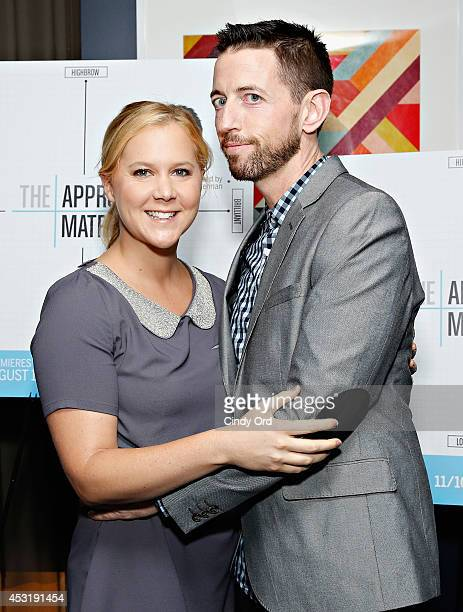 Comedian Amy Schumer and 'The Approval Matrix' host/ comedian Neal Brennan attend the New York Magazine and SundanceTV party for SundanceTV's...