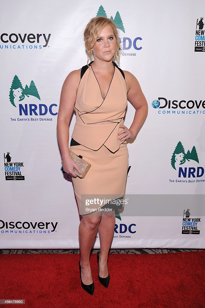 Comedian Amy Schumer attends NRDC's 'Night Of Comedy' benefiting the Natural Resources Defense Council at 583 Park Ave on November 5, 2014 in New York City.