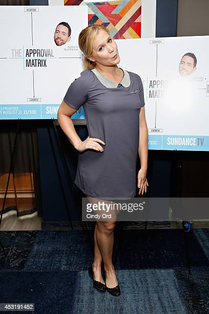 Comedian Amy Schumer attends the New York Magazine and SundanceTV party for SundanceTV's original unscripted series The Approval Matrix which...