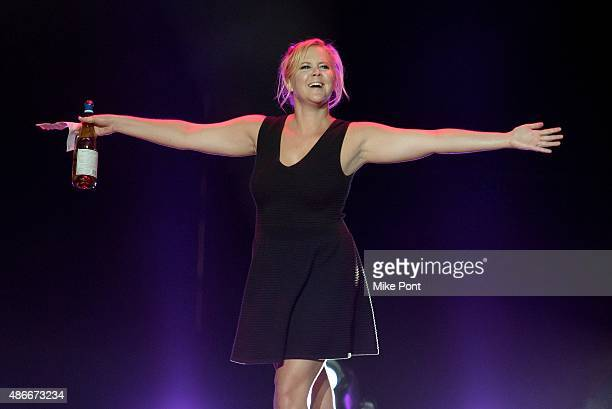 Comedian Amy Schumer performs during the Oddball Comedy and Curiosity Festival at the Nikon at Jones Beach Theater on September 4 2015 in Wantagh New...