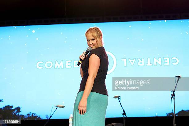 Comedian Amy Schumer performs on stage at 'Comedy Central's Stars Under the Stars' at Central Park SummerStage on June 26 2013 in New York City