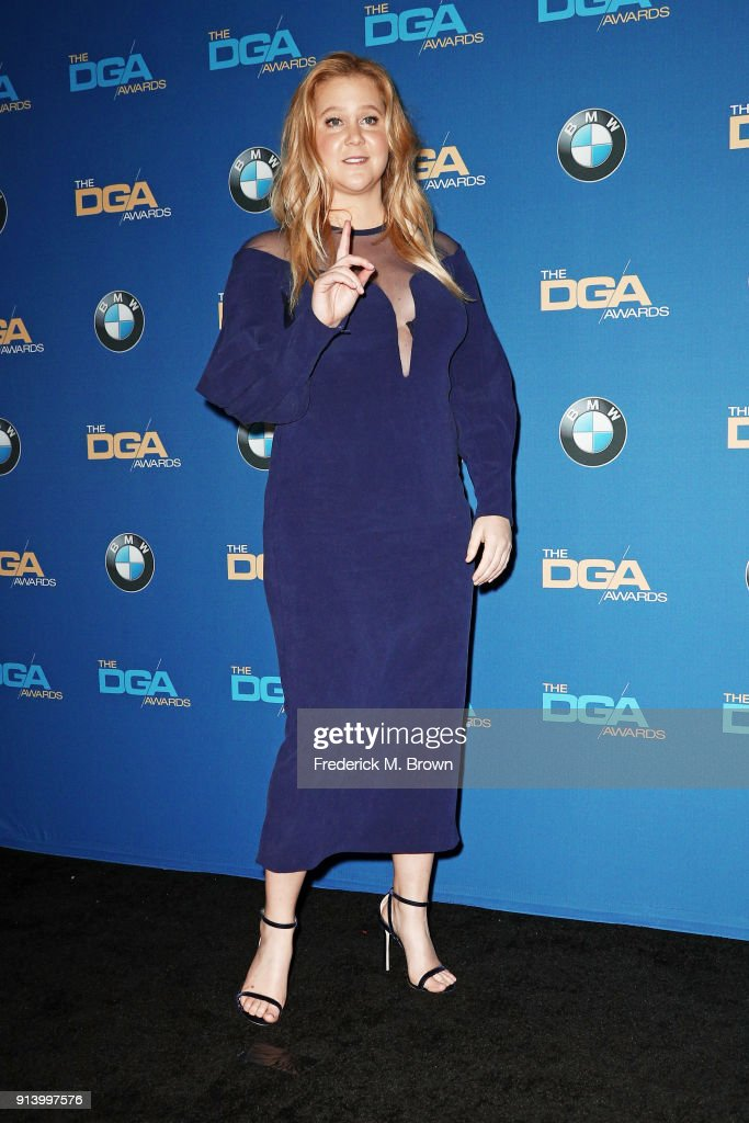 Comedian Amy Schumer poses in the press room during the 70th Annual Directors Guild Of America Awards at The Beverly Hilton Hotel on February 3, 2018 in Beverly Hills, California.