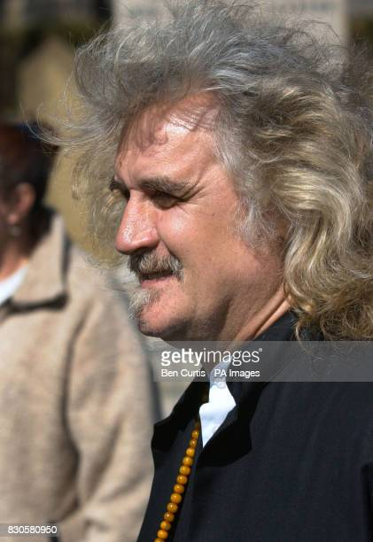 Comedian and actor Billy Connolly leaves the funeral of Jimmy Logan at Glasgow Cathedral in Scotland Logan one of Scotland's most popular...